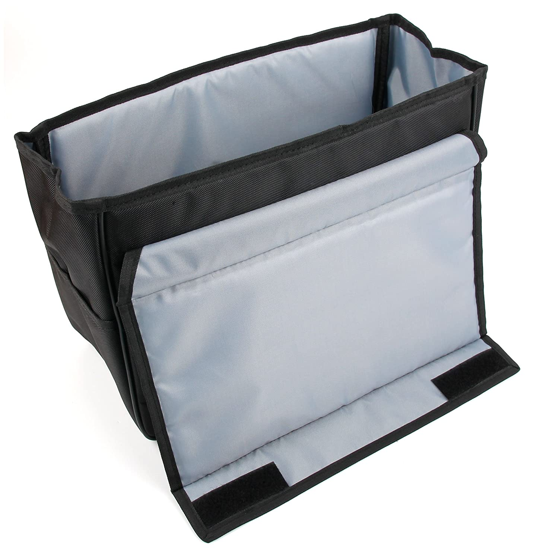 Ideal para Viajes DURAGADGET Organizador//PortaObjetos Acolchado para Asiento De Coche O Maletero