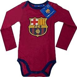 88b37c141 Fc Barcelona Onesie Baby Cotton Soccer Bodysuits Infant Maroon