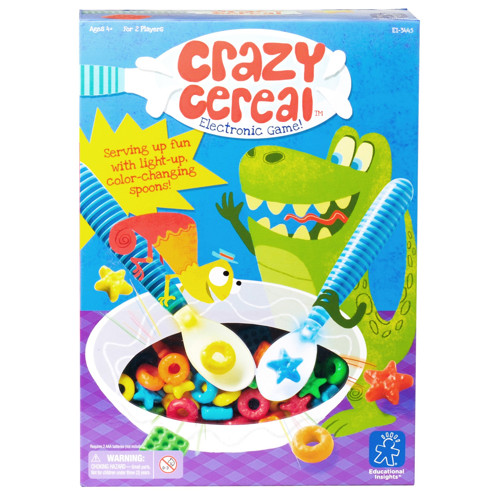 Educational Insights Crazy Cereal Electronic Game, Practice Color Recognition, Ages 4 and Up