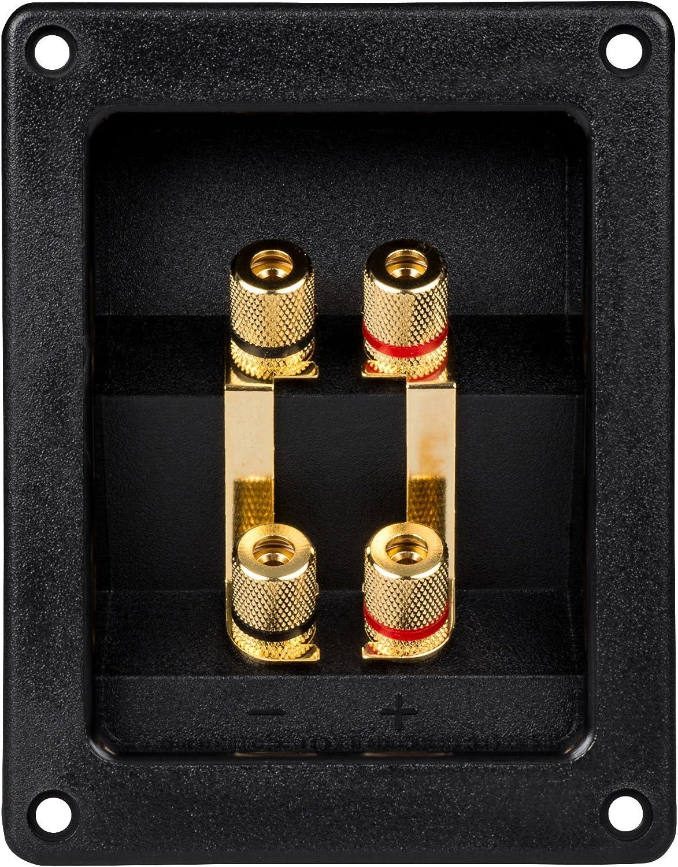 Parts Express Bi-Amp Speaker Terminal Cup Gold Binding Post Banana Jack