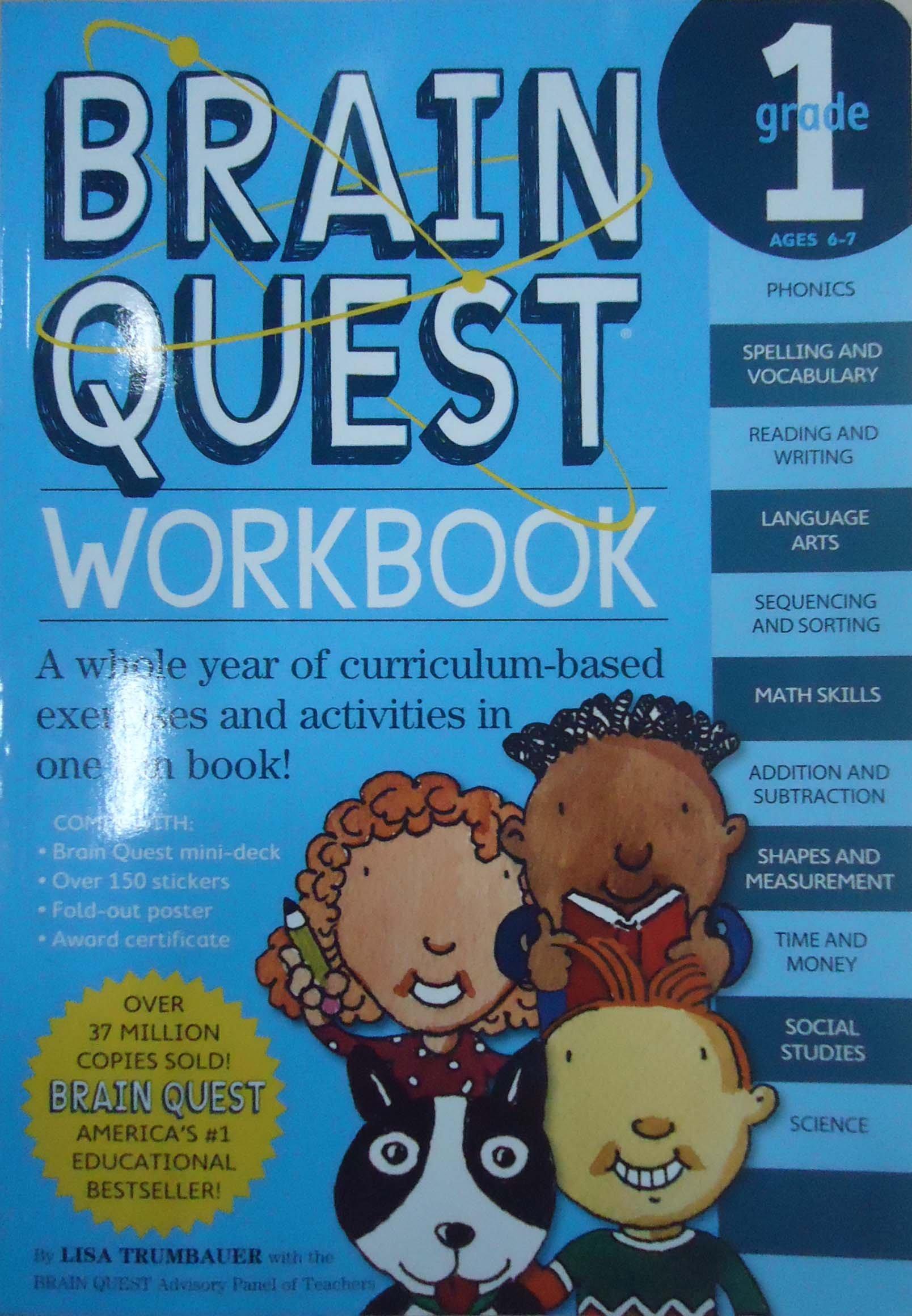 Brain Quest Workbook: Grade 1: Lisa Trumbauer: 9780761149149: Amazon ...