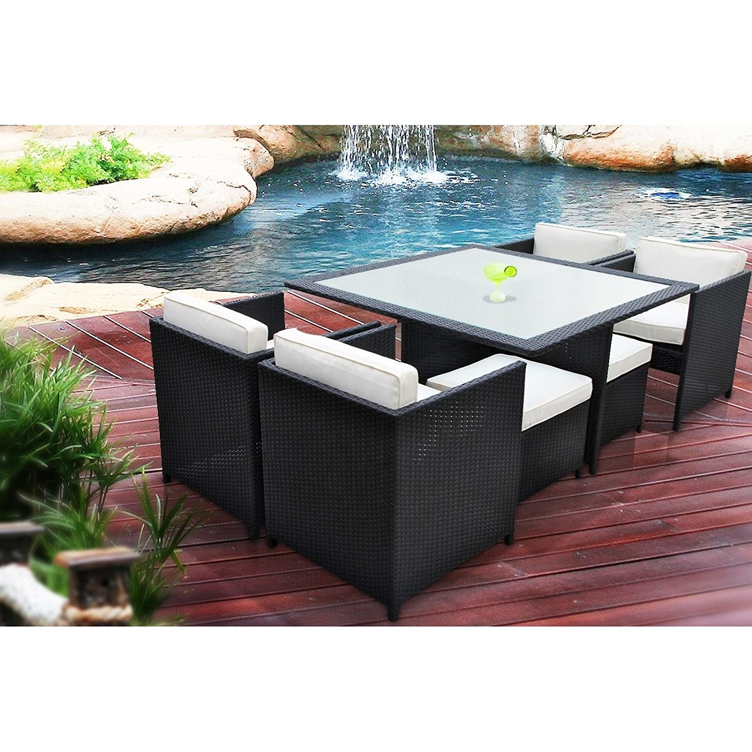 Amazon Manhattan 9 Piece Patio Furniture Outdoor Dining Set