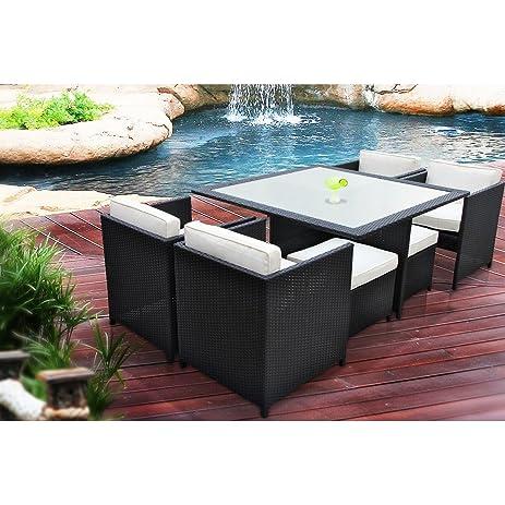 amazon com manhattan 9 piece patio furniture outdoor dining set