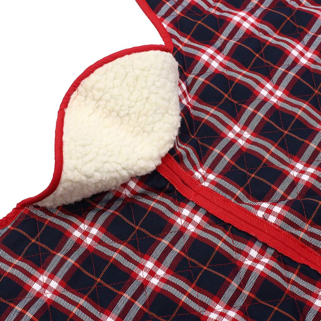 Cappotto Impermeabile con Fasce Regolabili per levrieri levrieri e Whippet Morezi Giacca per Cani Cappotto Invernale con Fodera in Caldo Pile
