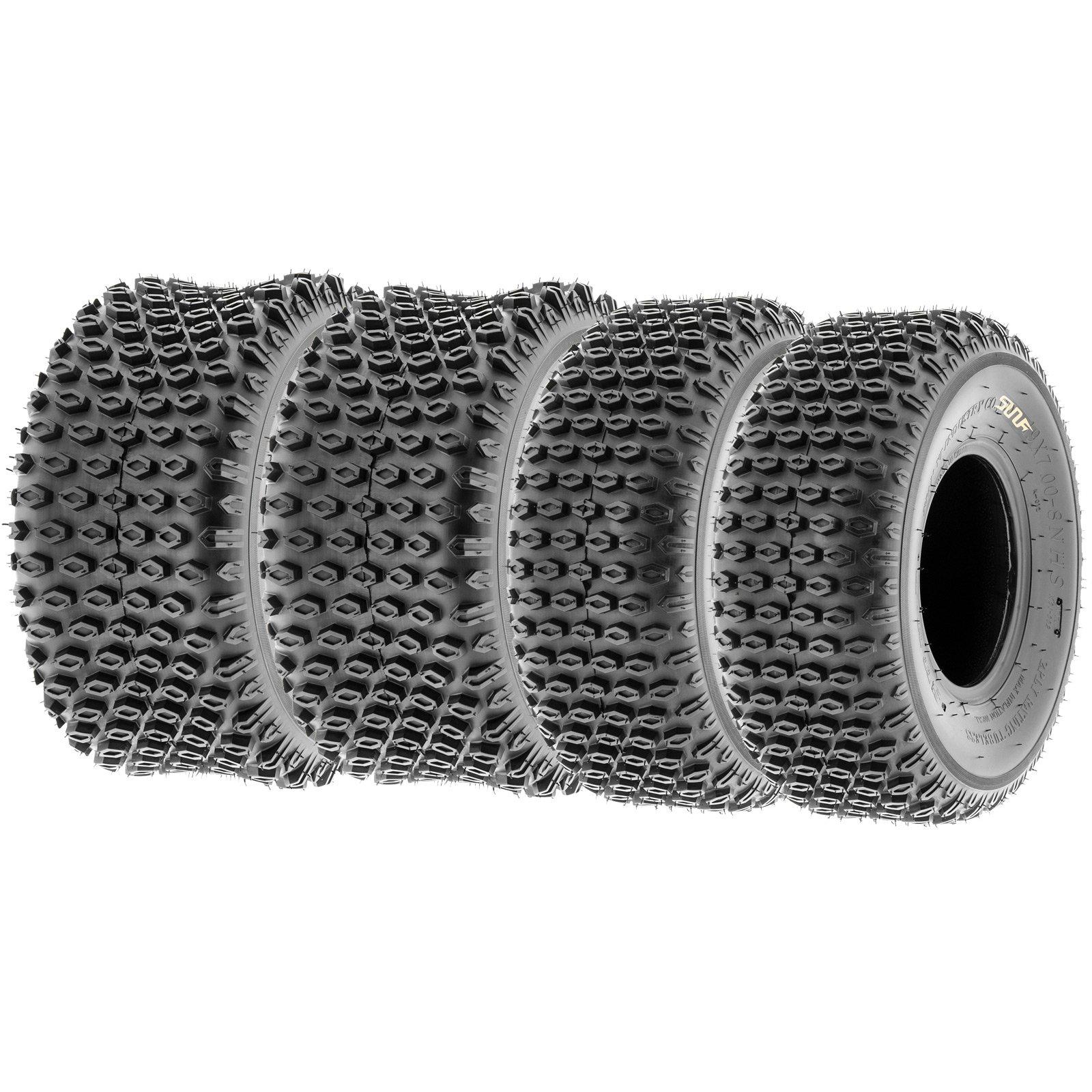 SunF Quad ATV Sport Tires 19x7-8 & 18x9.5-8 4 PR A012 (Full set of 4) by SunF