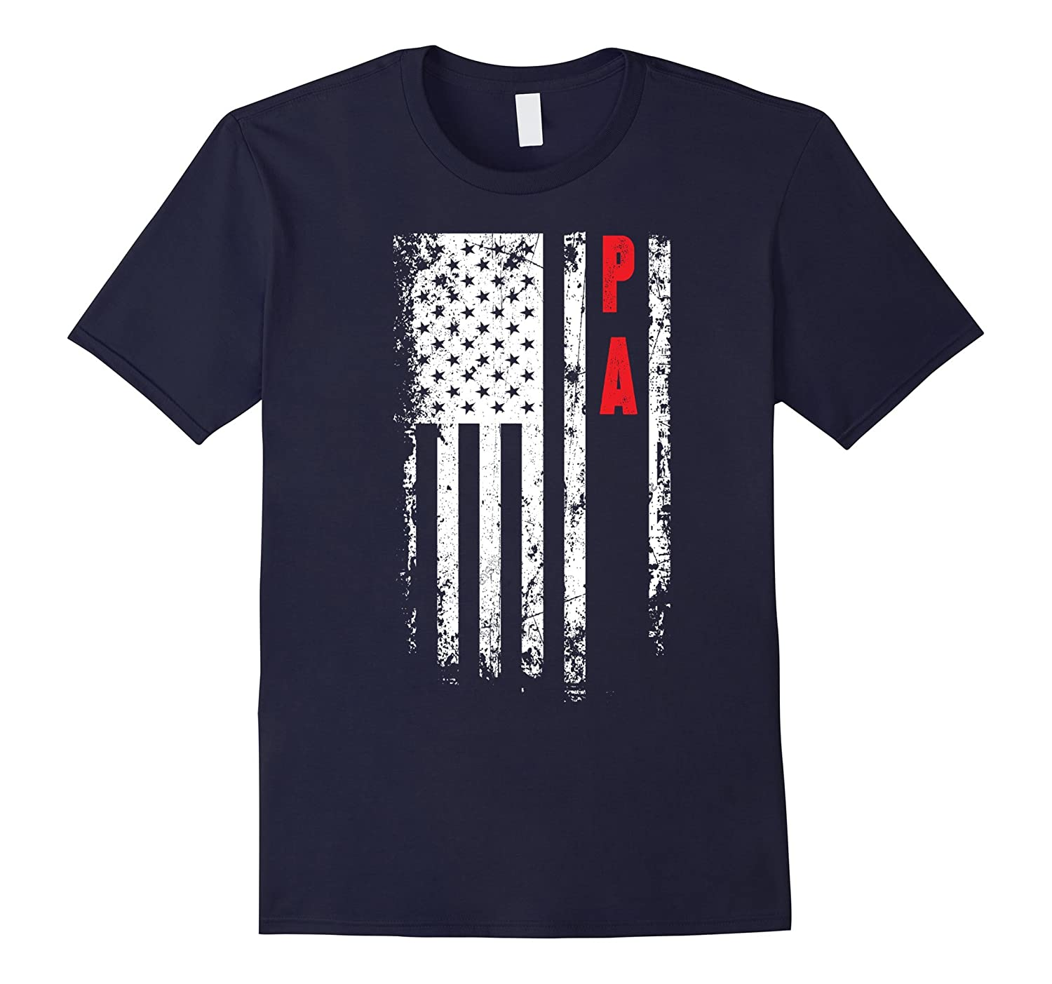 Fathers Day Gift American Pa flag t-shirt-TH