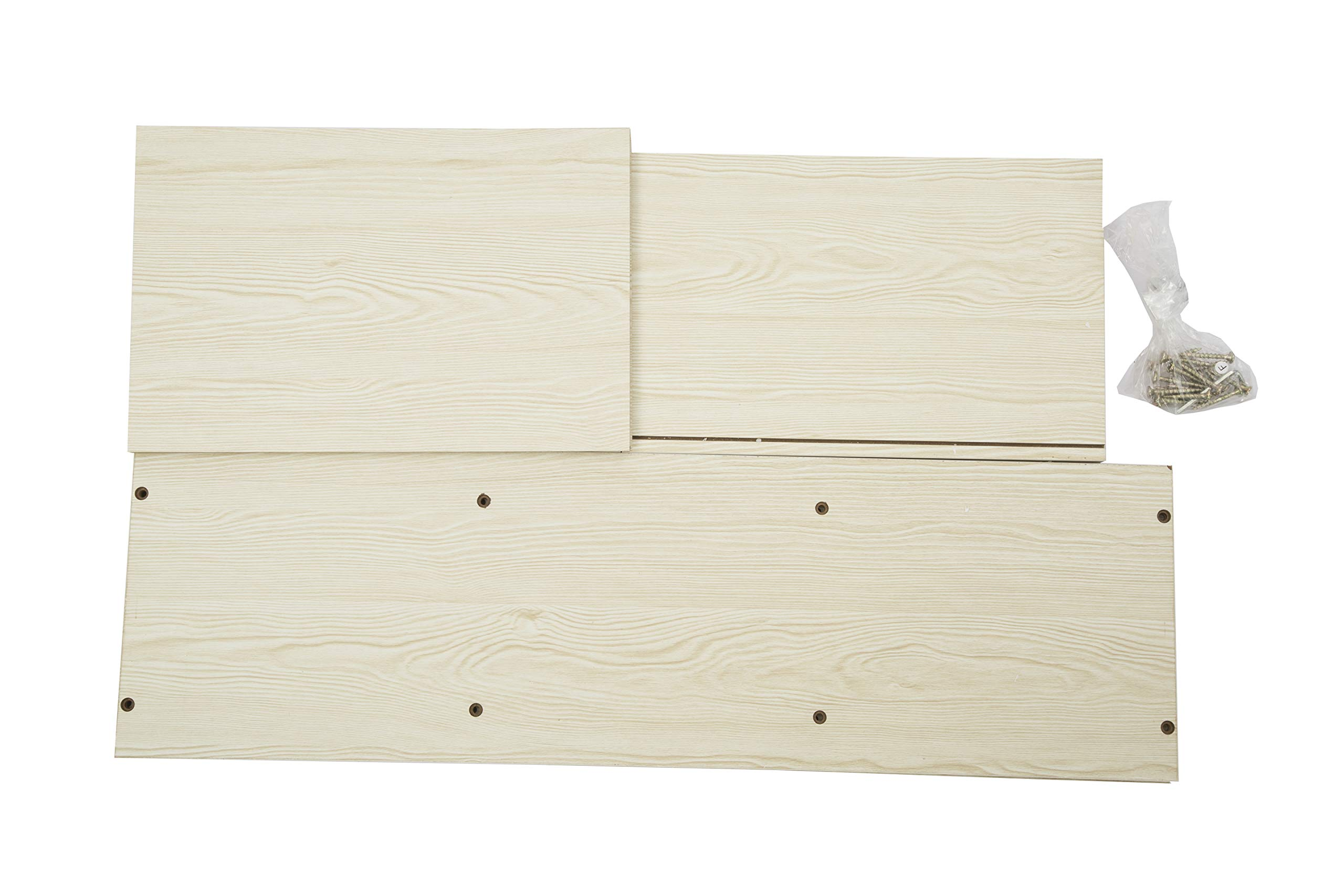 JEROAL 3-Shelf Wooden Bookshelf, 3 Cube Storage Organizer, Display Bookshelf Storage Organizer for Books, Pictures, Decorations, White Oak by JEROAL (Image #6)