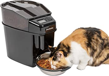 PetSafe Healthy Pet Simply Feed Automatic Cat and Dog Feeder with Stainless Steel Bowl, Holds