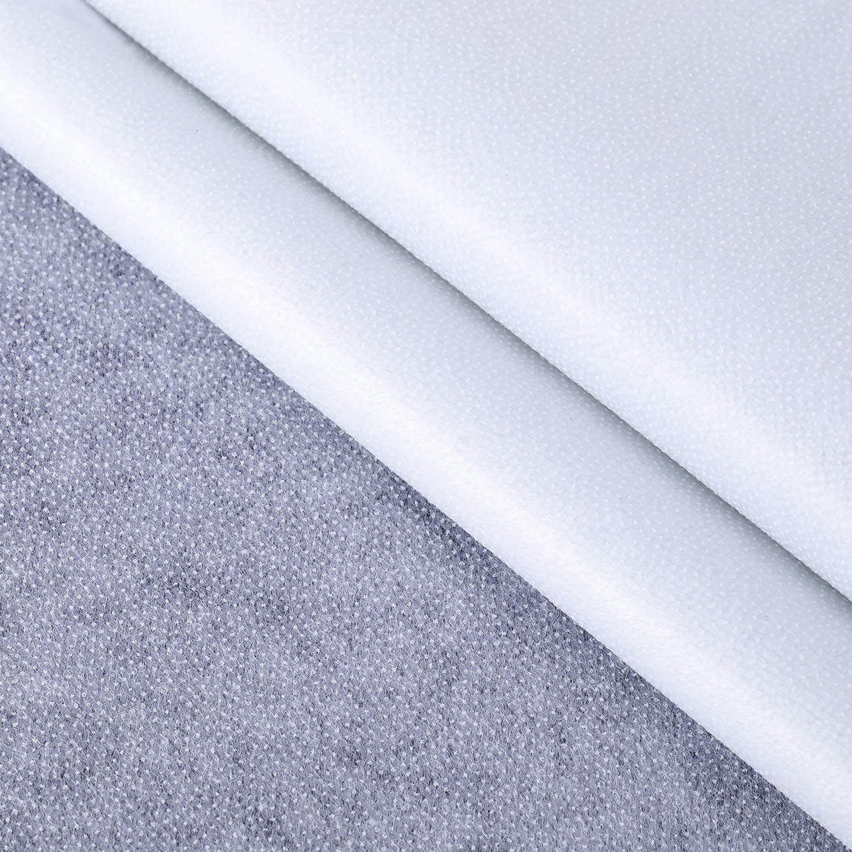 Blanco, 40 Pulgadas x 3 Yardas Entretela Fusible No Tejido Tela de Entretela de Poli/éster Entretela de Planchar de Una Cara para Suministros Bricolaje