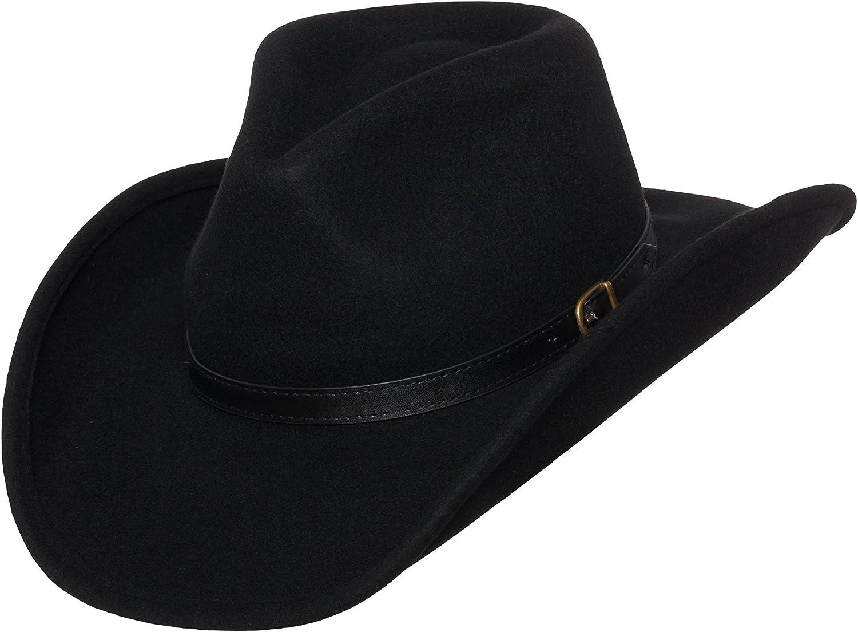 Silver Canyon Boot and Clothing Company Outback Wolle Cowboyhut Dakota formbar West Filz f/ür Herren