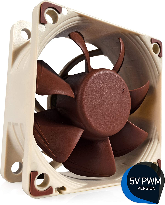 Noctua NF-A6x25 5V PWM, Premium Quiet Fan, 4-Pin, 5V Version (60mm, Brown)