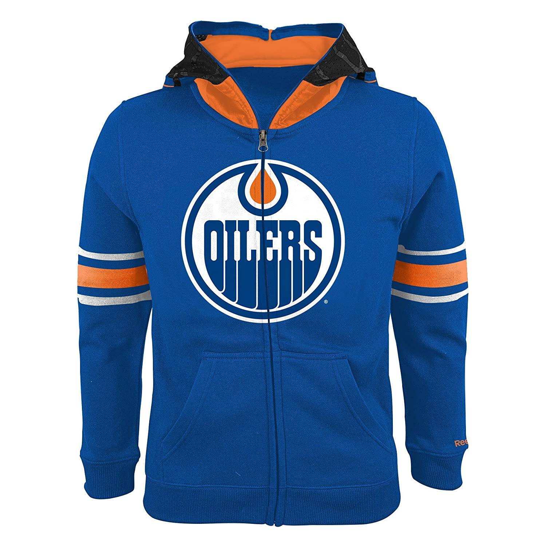 Edmonton Oilers Youth Goalie Full-Zip Fleece Hoodie Reebok