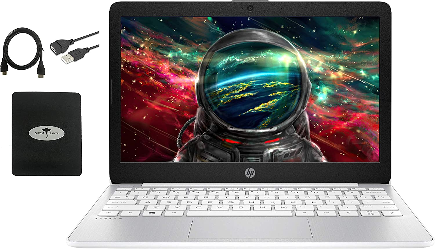 """2020 HP Stream 11.6"""" HD Laptop for Student and Home use, Intel Celeron N4000 (up to 2.6GHz), 4GB Memory, 64GB Storage, Webcam, WiFi, Bluetooth, Wireless-AC, USB Type-A&C, HDMI, w/GM Accessories"""