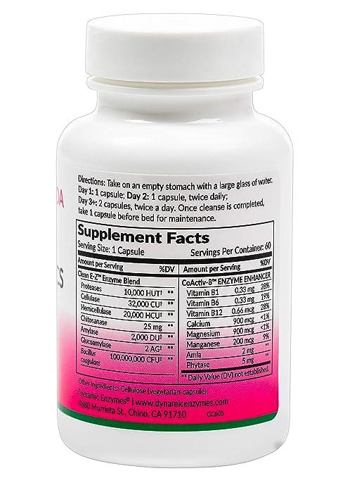 Amazon.com: Limpia E-Z Candida (60 cápsulas veganas ...
