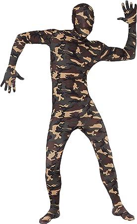 Smiffys - Disfraz de camuflaje (pegado al cuerpo), talla UK 46 ...