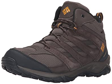 Columbia Men's Plains Butte Mid Waterproof Hiking Boots, Cordovan/Squash,  ...