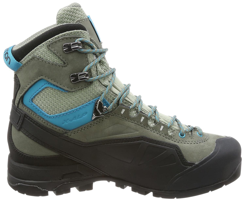 Salomon Damen X Alp MTN GTX W Trekking-& Wanderstiefel, Grau (Shadow/Castor Gray/Enamel Blue 000), 40 EU