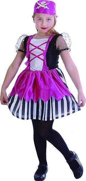 Disfraz pirata rosa niña - 10 - 12 años: Amazon.es: Juguetes y juegos
