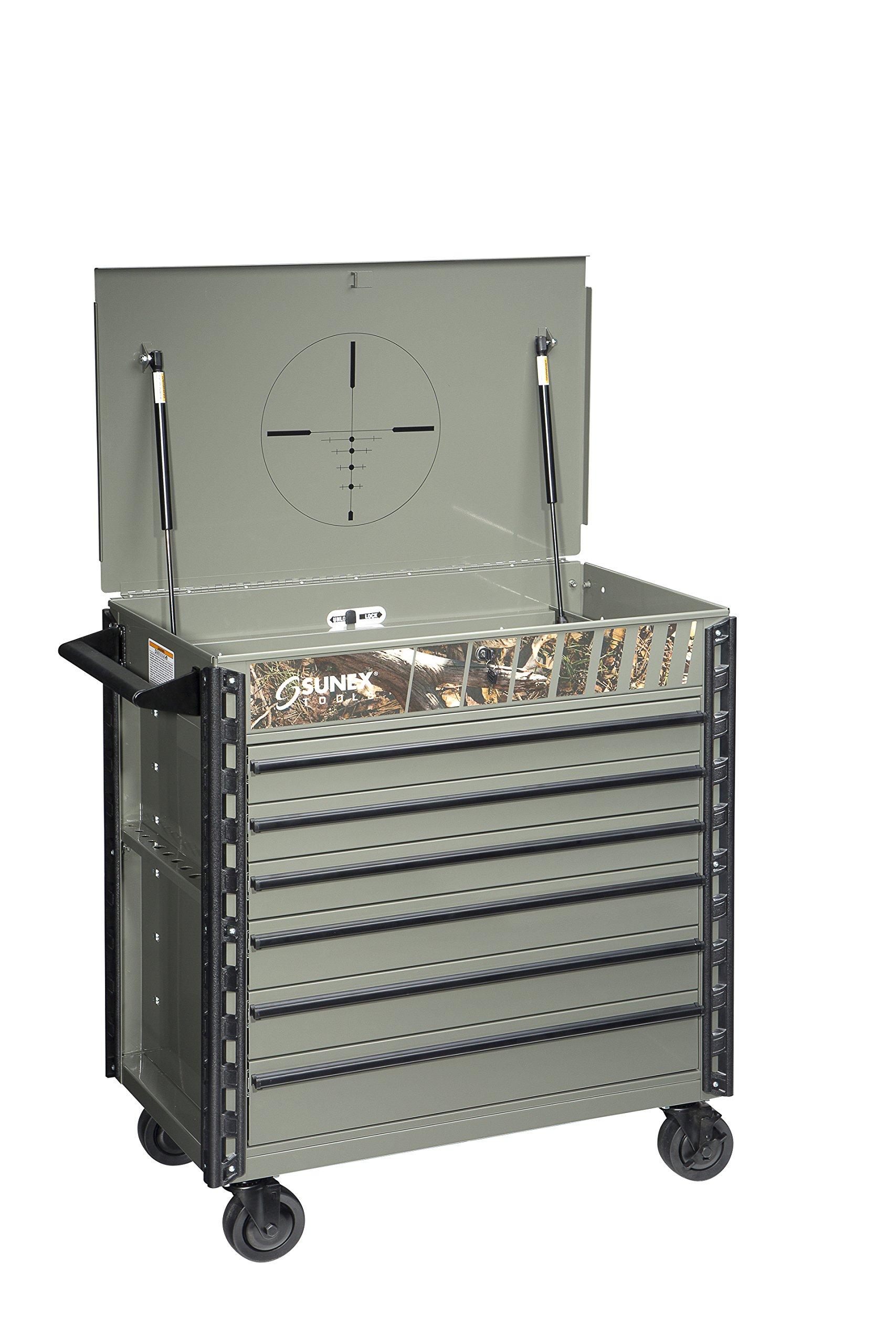 Sunex 8057CAMO Premium Full Drawer Camo Service Cart, Camo by Sunex Tools