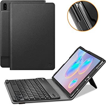 Fintie Keyboard Case for Samsung Galaxy Tab S6 10.5 2019 Supports S Pen Wireless Charging Model SM-T860//T865//T867 Gray Slim Cover w//Detachable Wireless Bluetooth Keyboard ,