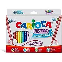 Carioca Birello Süper Yıkanabilir Çift Tarafli Keçeli Boya Kalemi 24'Lü