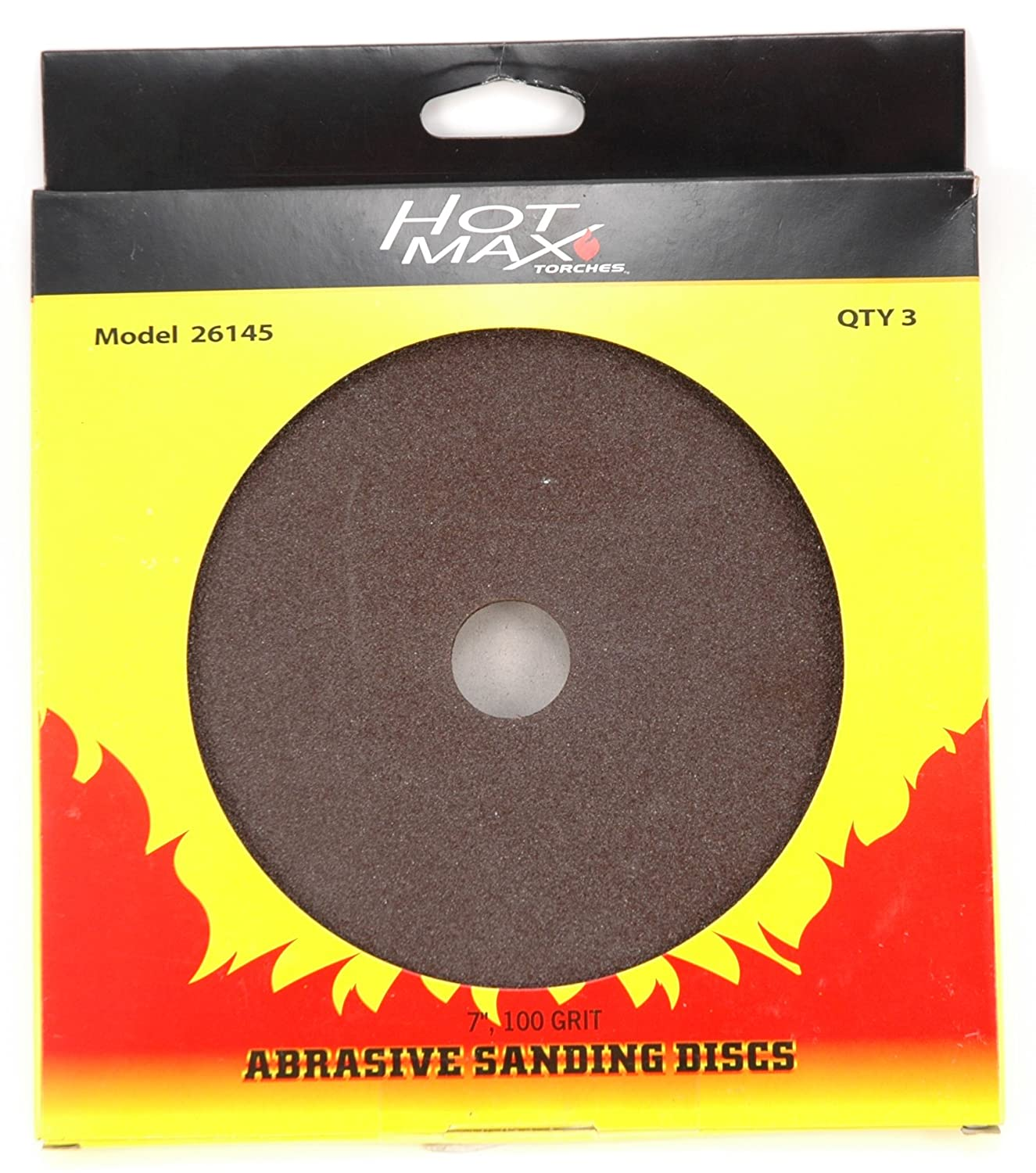 3-Pack Hot Max 26131 5-Inch 24 Grit Abrasive Sanding Disc with 7//8-Inch Hole