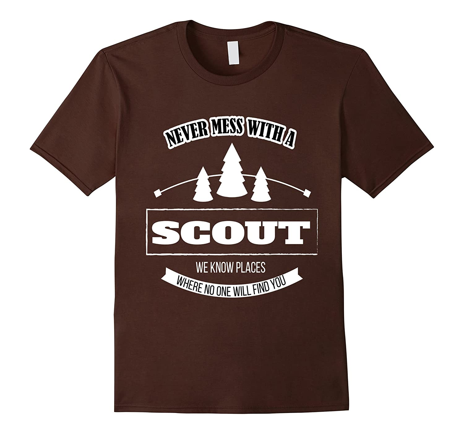Never Mess With A Scout Funny Boys & Girls Scout T-shirt-CL