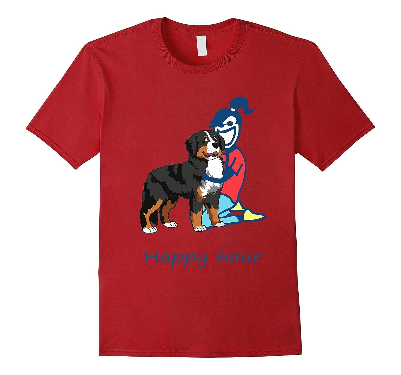 bernese mountain dog Happy Hour Womens T-shirt-Vaci