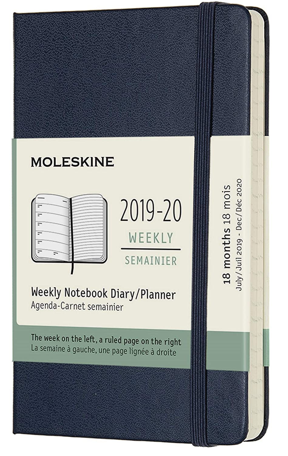 Moleskine Classic 18 Month 2019-2020 Weekly Planner, Hard Cover, Large (5