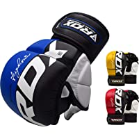 RDX MMA Gloves Grappling Martial Arts Punching Bag Maya Hide Leather Mitts Sparring Cage Fighting Combat Training