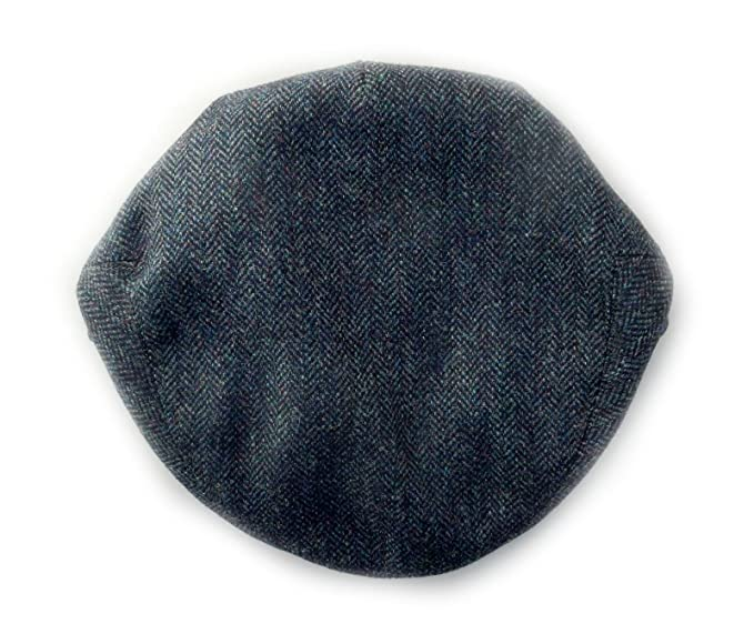 c577669f3a6ad Hand Tailored Tweed Garforth Flat Cap Ribble Blue Made in Britain   Amazon.co.uk  Clothing