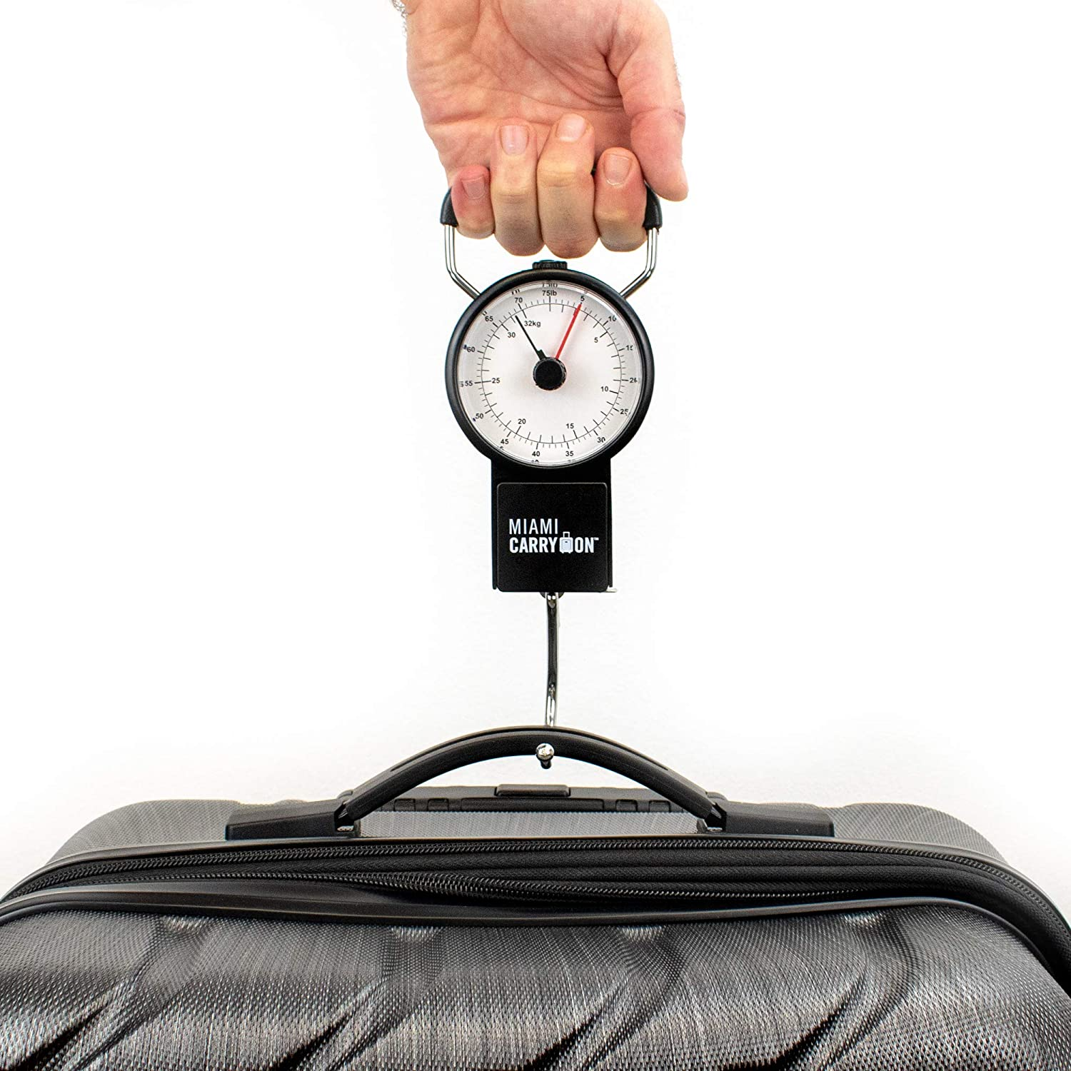 Mechanical Luggage Scale/Fishing Scale with Tape Measure, Up to 75 Pounds / 34KG: Amazon.com: Industrial & Scientific