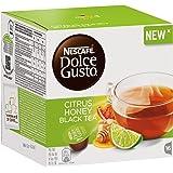 Nescafé Dolce Gusto Citrus Honey Black Tea, Beverage with Flavour, 16 Capsules