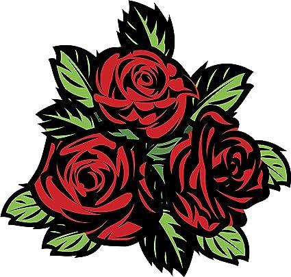Rose Flower B Vinyl Decal Sticker 2 TWO Pack