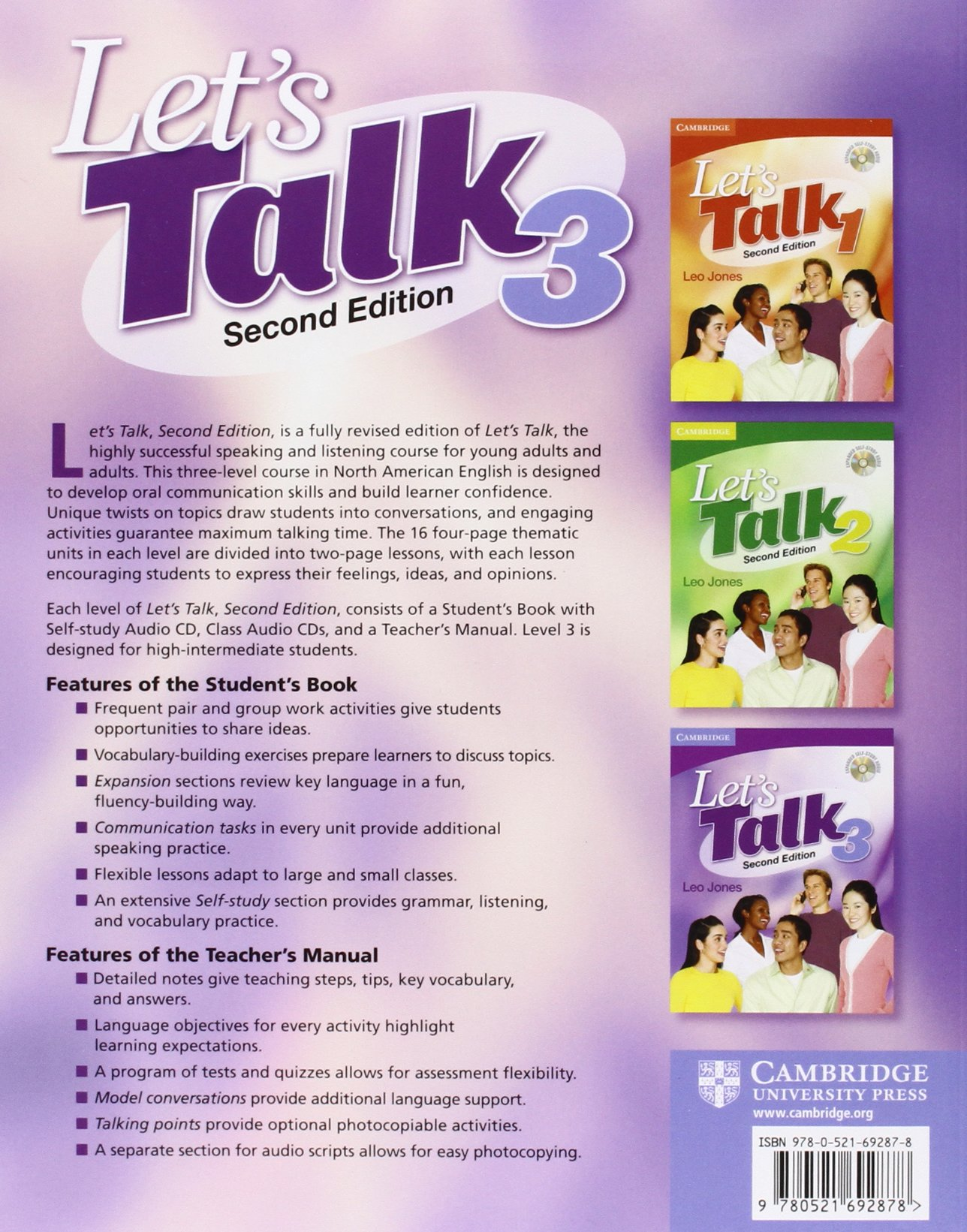 Buy Let's Talk Level 3 Student's Book with Self-study Audio CD (Let's Talk  (Cambridge)) Book Online at Low Prices in India | Let's Talk Level 3  Student's ...
