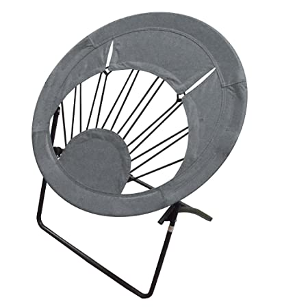 Impact Canopy Bungee Chair, Portable Round Folding Chair, Gray