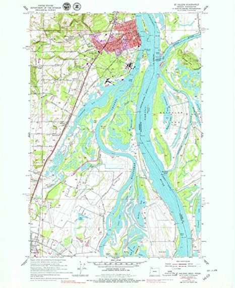 Amazon Com Yellowmaps St Helens Or Topo Map 1 24000 Scale 7 5 X