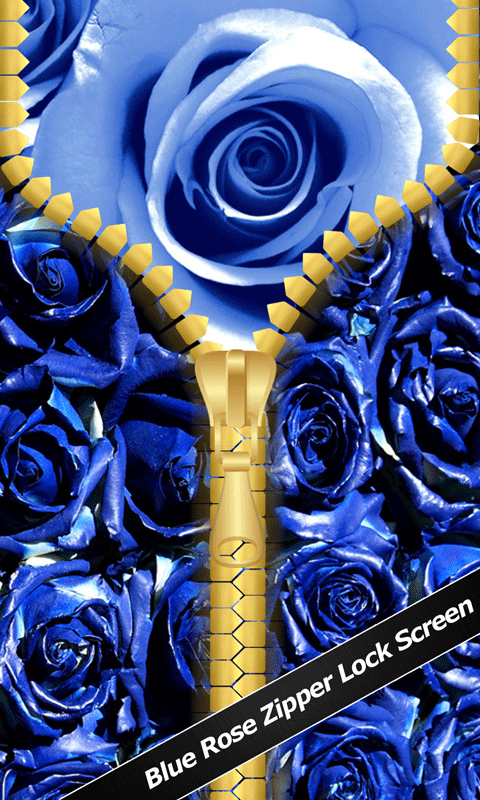 Amazon Com Blue Rose Zipper Lock Screen Appstore For Android