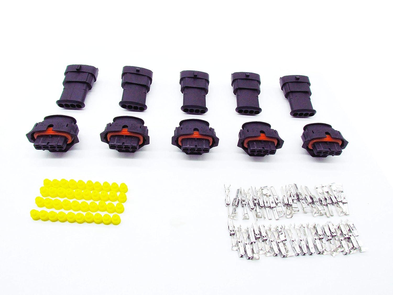 Cnkf 5/set 4/pin maschio femmina spina sigillato pompa a iniezione diesel Bosch Bsk per mappa sensore connettore 1928403736