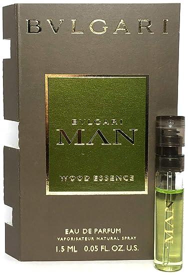 52a4edf4ecf Amazon.com   Bvlgari Man Wood Essence Eau De Parfum Spray Vial For Men 0.05  Oz   1.5 ml Sample Size   Beauty