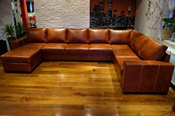 Remarkable Super Grosse 8 Sitzer Echtleder Ecksofa Mallorca U Form 170X350X240Cm Sofa Couch Mit Bettfunktion Und Bettkasten Eck Couch Echt Leder Grosse Ocoug Best Dining Table And Chair Ideas Images Ocougorg