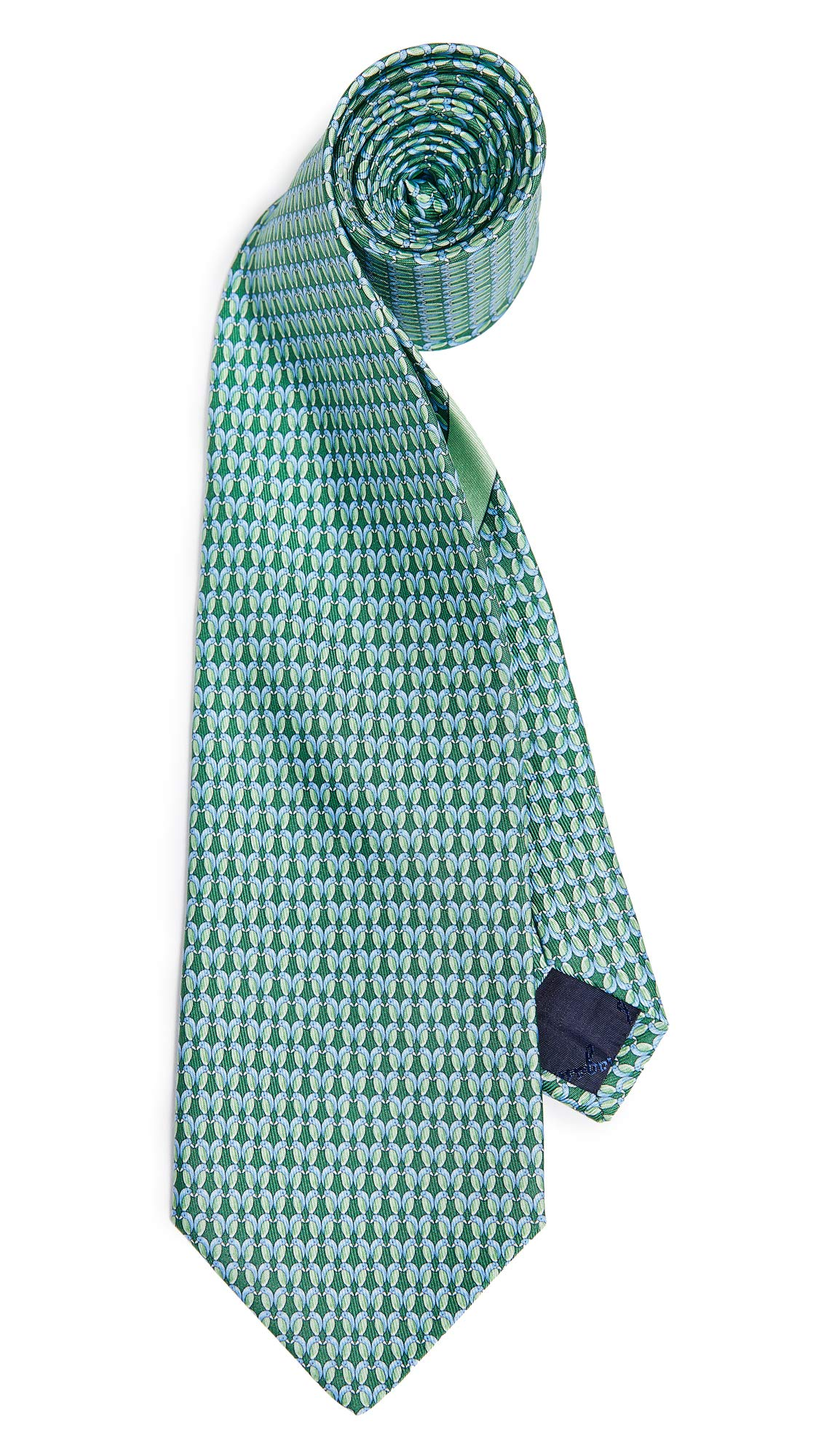 Salvatore Ferragamo Men's Bird Tie, Green, One Size