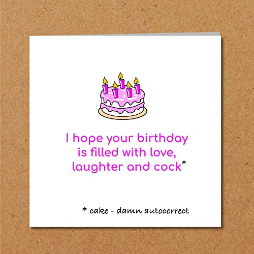 BIRTHDAY CAKE Card Funny Humorous Girl Female Friend Rude Adult Naughty Fun Sexy Amazoncouk Handmade