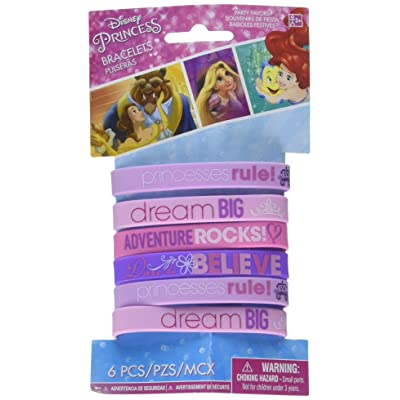Rubber Bracelets | Disney Princess Dream Big Collection | Party Accessory: Toys & Games