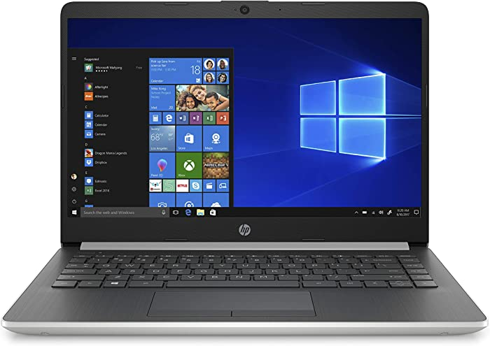HP 14-Inch Laptop, Intel Core i3-8145U Processor, 4 GB SDRAM, 128 GB Solid-State Drive, Windows 10 Home in S Mode (14-df1020nr, Natural Silver)