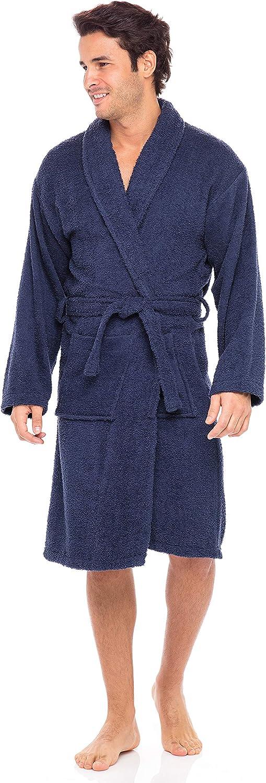 SKYLINEWEARS Men/'s 100/% Terry Cotton Bathrobe Shawl Collar Toweling Robe Spa Robes