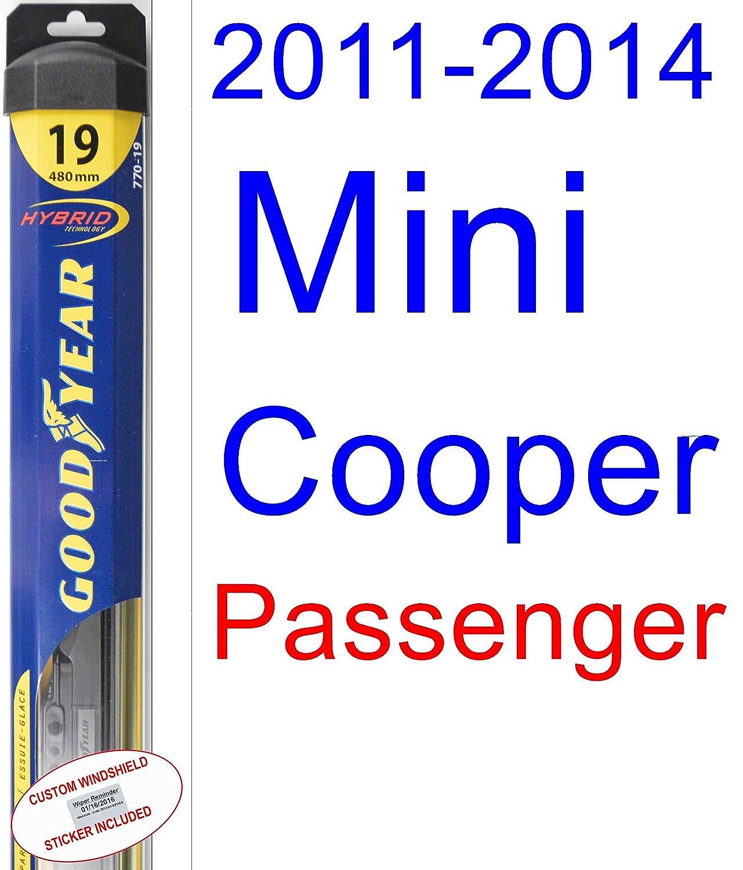 2011 - 2014 Mini Cooper Clubman hoja de limpiaparabrisas de repuesto Set/Kit (Goodyear limpiaparabrisas blades-hybrid) (2012,2013): Amazon.es: Coche y moto