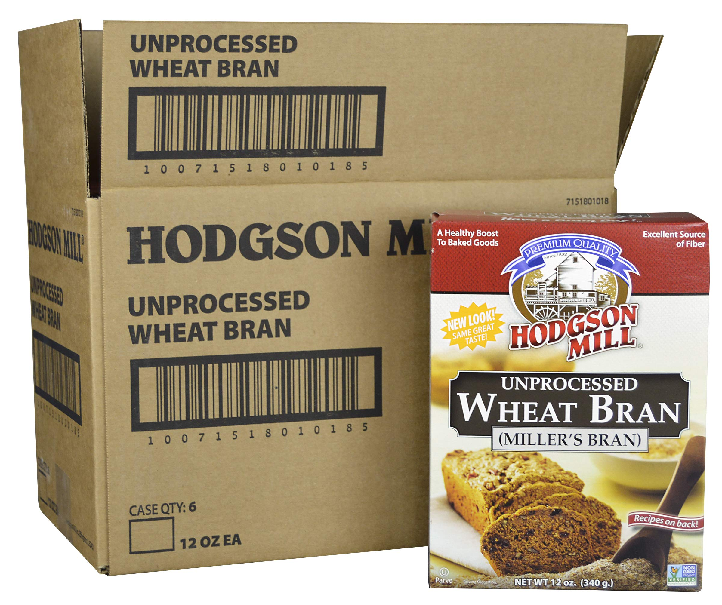 Hodgson Mill Wheat Bran, Unprocessed Millers Bran, 12-Ounce (Pack of 6) by Hodgson Mill (Image #4)