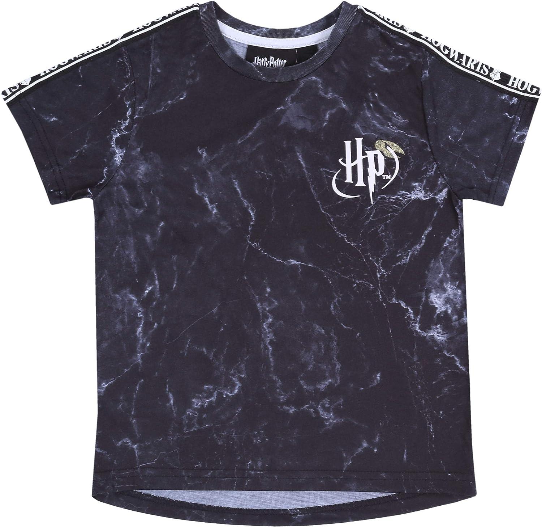 marmorizzata Maglietta Nera t-Shirt Harry Potter