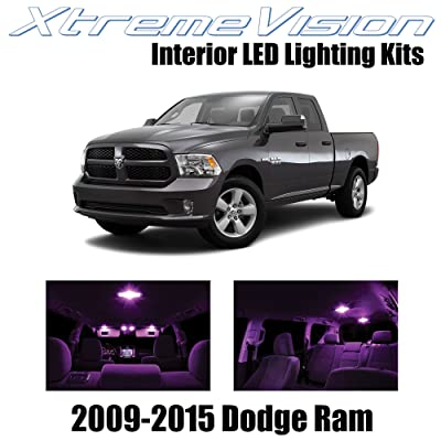 Xtremevision Interior LED for Dodge Ram 2009-2015 (6 Pieces) Pink Interior LED Kit + Installation Tool: Automotive